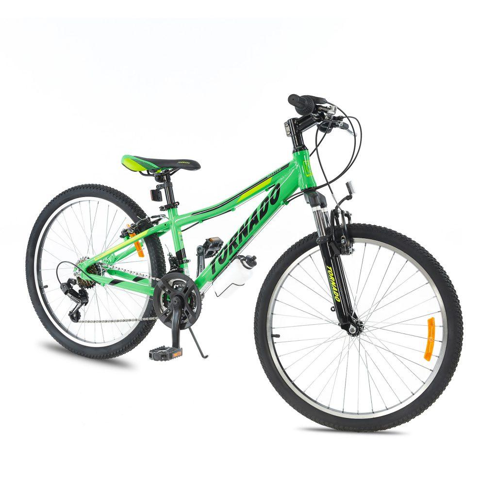 אופני הרים טורנדו M7 ירוק – אופני הילוכים מאלומיניום לילדים ונוער
