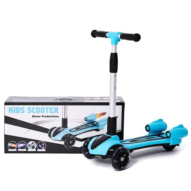 סילון –  קורקינט 3 גלגלים לילדים עם מבערים מוציאים עשן