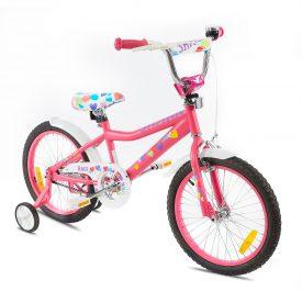 אופני ילדים BMX ספורטיביים שארק ורוד לבבות