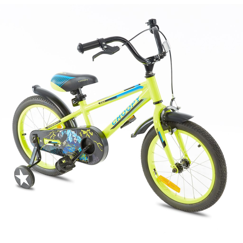 צ'ופי – אופני ילדים BMX אלומיניום – צהוב זוהר