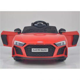 אאודי R8 ספיידר ספורט ממונעת לילדים עם שלט וגלגלי גומי אמיתיים 12 וולט צבע אדום