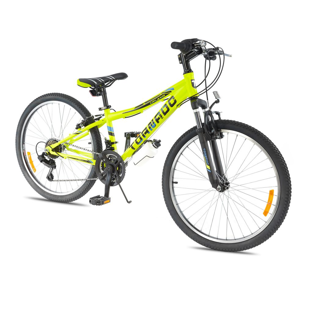 אופני הרים טורנדו M2 צהוב זוהר- אופני הילוכים לילדים נוער ובוגרים