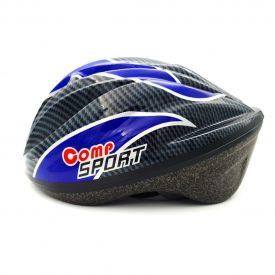 COMP STAR – קסדת אופניים בטיחותית לנוער – כחול אפור