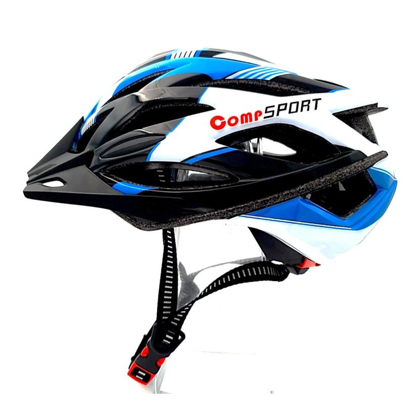 COMP SPORT – קסדת אופניים בטיחותית לנוער ובוגרים – כחול