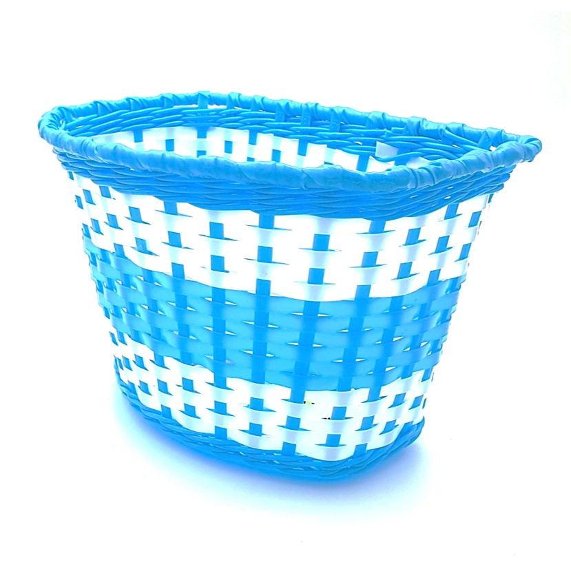 סלסלה כחולה לאופני ילדים BMX