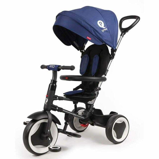 תלת אופן מתקפל לתינוקות קיו פליי ריטו כחול QPLAY RITO