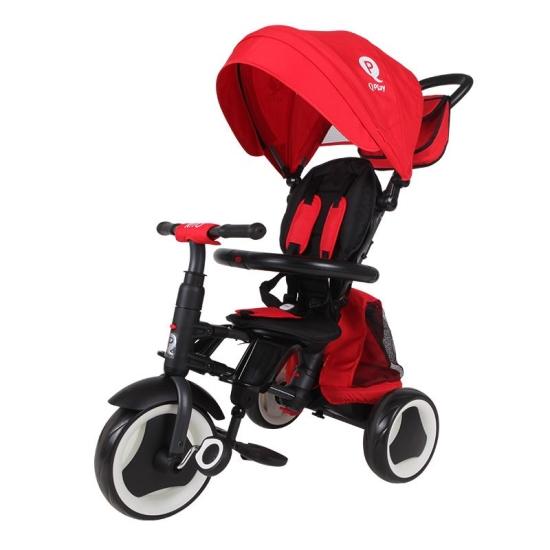 תלת אופן מתקפל לתינוקות קיו פליי ריטו פלוס אדום QPLAY RITO PLUS