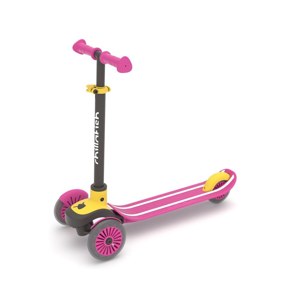 קורקינט 3 גלגלים לילדים סקוטי ורוד צהוב
