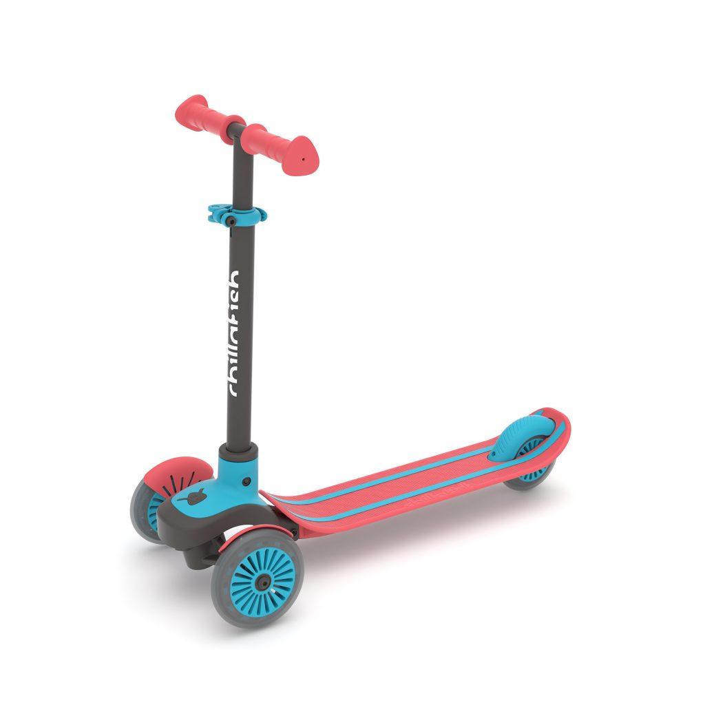 קורקינט 3 גלגלים לילדים סקוטי אדום תכלת