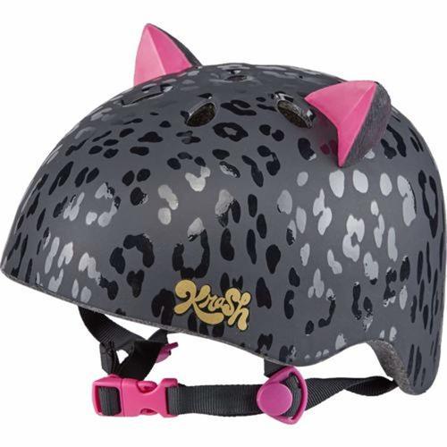 קסדת ילדים חתול מנומר שחור קראש לאופניים וקורקינטים