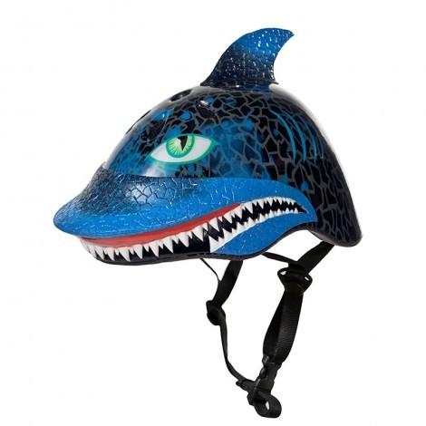 קסדת ילדים כריש שחור ראסקלז לאופניים וקורקינטים