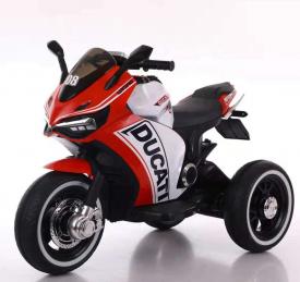 אופנוע 3 גלגלים דוקאטי ממונע לילדים 6 וולט 2 מנועים אדום