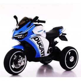 אופנוע 3 גלגלים דוקאטי ממונע לילדים 6 וולט 2 מנועים כחול