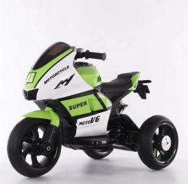 אופנוע 3 גלגלים מיני רייסר ממונע לילדים 6 וולט 2 מנועים ירוק