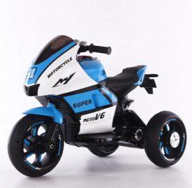 אופנוע 3 גלגלים מיני רייסר ממונע לילדים 6 וולט 2 מנועים כחול