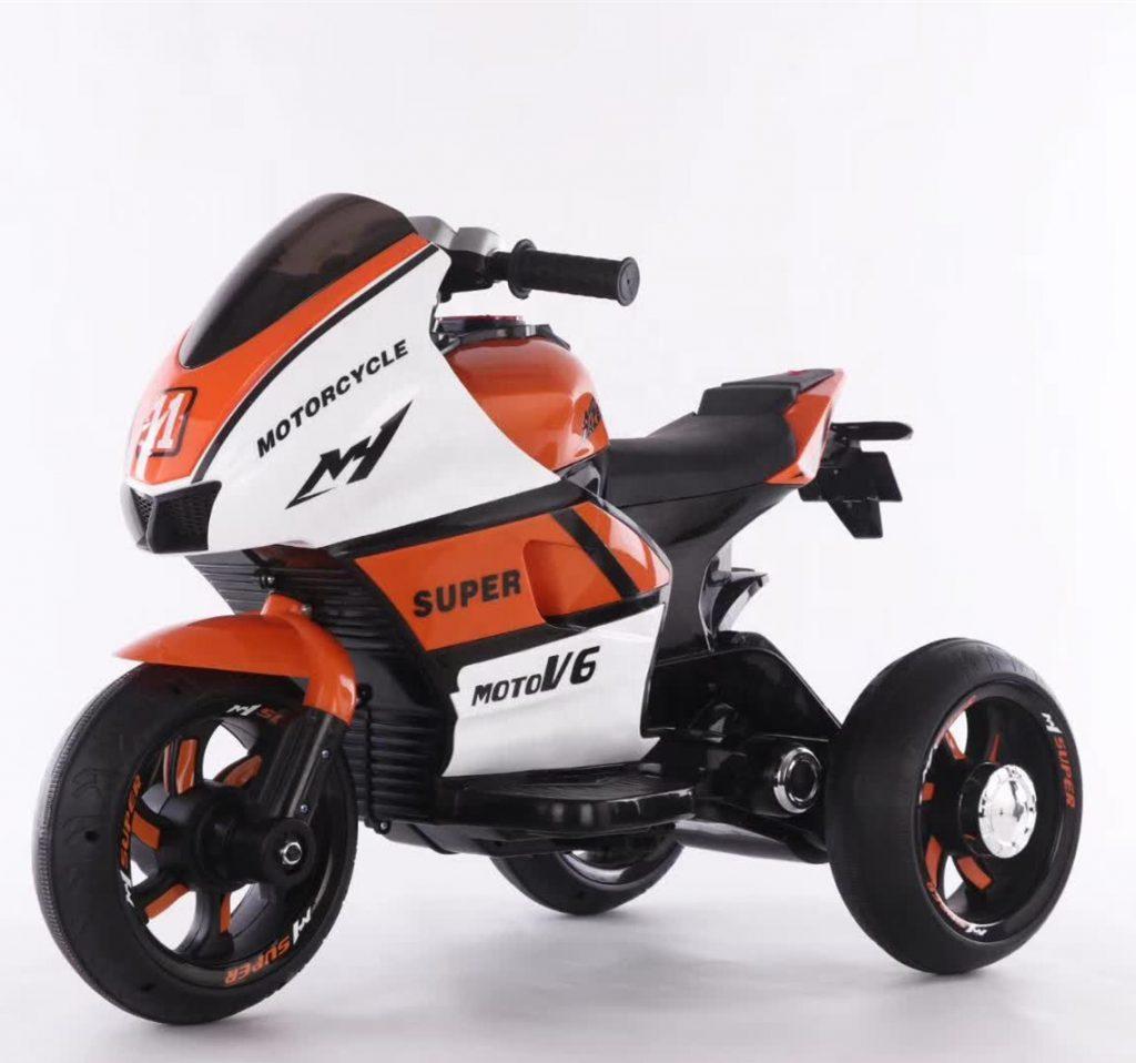 אופנוע 3 גלגלים מיני רייסר ממונע לילדים 6 וולט 2 מנועים כתום