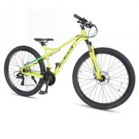 אופני הרים היילנד פרו צהוב זוהר – אופני הילוכים מאלומיניום לנוער ובוגרים