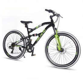 אופני הרים היילנד מג'יק שחורים – אופני הילוכים שיכוך מלא לנוער ובוגרים