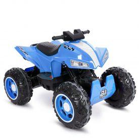 טרקטורון ממונע לילדים עם גלגלי גומי 12 וולט כחול