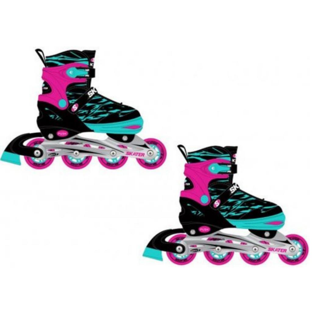 רולרבליידס SKATER מבית TRENDY בצבע ורוד סגלגל
